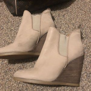 COACH barely worn leather boot high heels